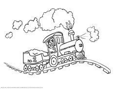 14 printable coloring pages for kids for trains coloring pages