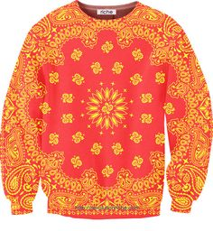 Red & Yellow Bandana Unisex Crewneck    #fashion #mens #womens #red #yellow #sweater (discount code: sdook)