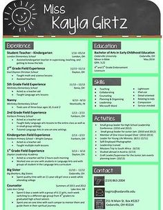 Resume Renovations By Rebekah | Teacher Resume. Preschool ...  Resume For Preschool Teacher