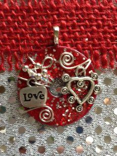 Cute Valentine's Day Washer Pendant by KsPeddlers on Etsy. Visit Washer Wear on facebook @ www.facebook.com/Washerwear