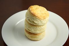 Tall, fluffy, multi-layered buttermilk biscuits are one of my all time favourite treats. Sadly, I have never been able to bake my ideal biscuits. I want to get those flaky layers and have tried lots of tricks - beating dough with rolling pin, barely handling the dough, and pushing, not twisting, the biscuit cutter.     I hope to try this recipe soon!