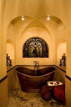 master bath wish I could redo my walls like this :-/
