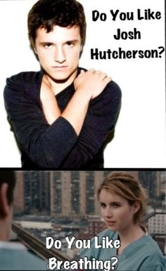 @Style Space & Stuff Blog Harder .. i remember you telling me how much you like josh hutcherson and this made me think of you lol