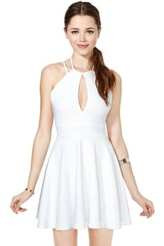 Let's Split Skater Dress
