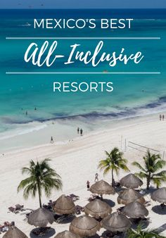 From the Riviera Maya to the Baja Peninsula, we've picked 9 all-inclusive resorts in Mexico that stand out above the rest. See if you agree. All Inclusive Mexico, Best All Inclusive Resorts, Mexico Resorts, Mexico Vacation, Vacation Places, Mexico Travel, Vacation Destinations, Vacation Spots, Places To Travel