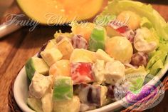 Fruity Chicken Salad Recipe www.pingdesserts.com/fruity-chicken-salad-recipe/