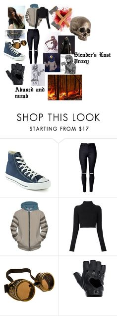 """""""Creepypasta:Ticci Toby"""" by squrrhater1234 ❤ liked on Polyvore featuring Converse, Balmain and FRACOMINA"""