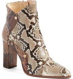 Alexandre Birman 'Kendal' Genuine Python Skin Pointy Toe Bootie (Women) | Nordstrom