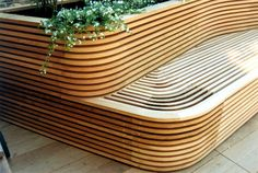 Great bench and raised garden bed. ♥ #garden design for summer lovers.