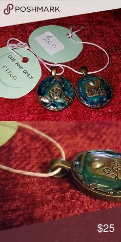 5 Handmade pendants Wide width of area to use to add to your favorite  chain Jewelry Necklaces