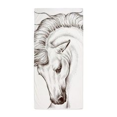 Horse In Sepia Beach Towel