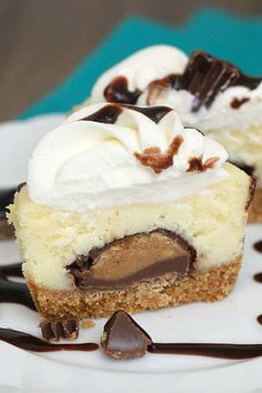 Mini Peanut Butter Cup Cheesecakes by Tracey's Culinary Adventures