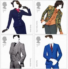 Fashion Stamps unveiled for SS12 - Royal Mail honours fashion designers with stamp collection