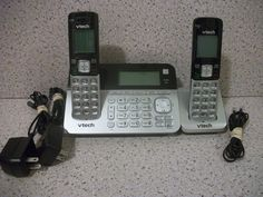 VTech CS6829-2 Cordless Phone Set w/ Handset Speaker Answering System *FREE SHIP #VTech