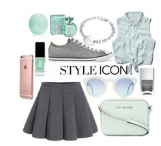 """""""Summer"""" by chaymaag on Polyvore featuring Abercrombie & Fitch, Nails Inc., MICHAEL Michael Kors, Tiffany & Co., Eos, maurices, Converse and JINsoon"""