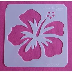 Idea for stencil on my new furniture in my room. mainly because I love hibiscus flowers. Stencil Patterns, Stencil Painting, Stencil Designs, Painting Patterns, Fabric Painting, Stenciling, Hawaiian Quilts, Quilting Templates, Flower Template