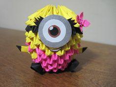 3d Origami Girl Minion