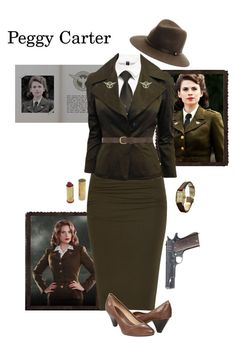 """""""Peggy Carter - Captain America: The First Avenger"""" by gone-girl ❤ liked on Polyvore featuring Frye, rag & bone, Jaeger-LeCoultre, Tom Ford, Dorothy Perkins, marvel, CaptainAmerica and peggycarter"""