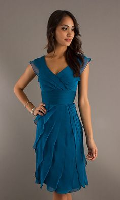 Just Perfect for Us! Great dress for women with broad shoulders and slim hips...