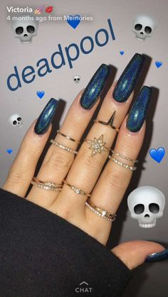 In seek out some nail designs and ideas for your nails? Here's our list of 40 must-try coffin acrylic nails for fashionable women. Colorful Nail Designs, Acrylic Nail Designs, Nail Art Designs, Nails Design, Gorgeous Nails, Pretty Nails, Hair And Nails, My Nails, Nail Polish