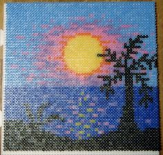 Sunset hama beads by mona