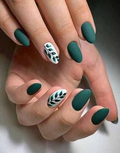 21 Charming And Sexy Winter Green Nails Acrylic: Don't Miss. – These creative winter nail designs are versatile and on-trend. – 21 Charming And Sexy Winter Green Nails Acrylic: Don't Miss. – These creative winter nail designs are versatile and on-trend. Fall Nail Designs, Green Nail Designs, Acrylic Nail Designs, Simple Nail Designs, Cute Nails, Pretty Nails, My Nails, Nails Today, Cute Simple Nails