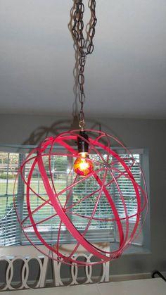 Large Industrial Orb Sphere Globe Pendant Chandelier Rustic