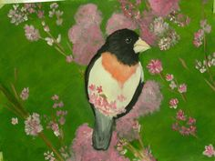 Acrylic painting on watercolor paper.Spring time the best time!!!