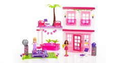 It's time for Beach Fun Barbie® to take a super fun vacation at the Mega Bloks Barbie® Build 'n Style Beach House