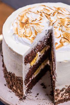 Creative Cakes, Macarons, Vanilla Cake, Fudge, Tiramisu, Cake Recipes, Cheesecake, Food And Drink, Sweets