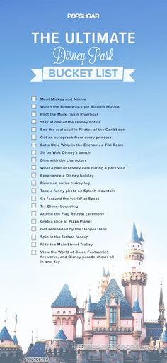 Disney Bucket List | POPSUGAR Smart Living