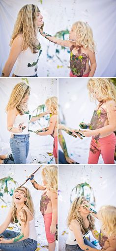Fun mother daughter portraits My lil one would love this kind of photo shot, me not so much, but it'd be worth it!