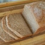 """Honey Whole-Wheat Sandwich Bread - no one would eat this but me because it was a little to """"hardy"""""""