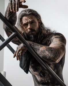 Vikings, Hot Guys Tattoos, Viking Beard, Boy Photography Poses, Older Men, Big Men, Dream Guy, Muscle Men, Perfect Man