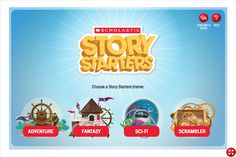 Scholastic Story Starters (online site) offers four story themes; fantasy, adventure, sci-fi, and scrambler. To create a story on Story Starters a students picks a theme, enter his or her name, chooses his or her grade, and spins the big wheels of prompts. The student can spin the wheels until he or she finds a prompt he or she likes. After the prompt is selected the student can write his or her story using the letter, postcard, notebook, or newspaper format.