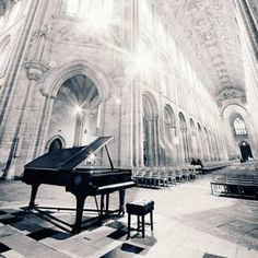 A grand piano, an empty hall and the music inside my head.