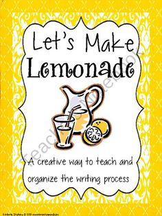 """Lets Make Lemonade - Writing Process Organization from Elementary Nerd on TeachersNotebook.com (20 pages)  - This draft book is a fun way to teach and organize the entire writing process. The process is explained by the analogy of """"making lemonade"""" which makes this fun and relevant to kids! The draft book walks the students step by step from brainstorm"""