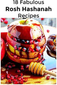 Date Recipes, Apple Recipes, Holiday Recipes, Vegan Recipes, Holiday Foods, Rosh Hashanah Menu, Rosh Hashana Recipe, Comida Kosher, Jewish High Holidays
