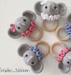 2019 all best amigurumi crochet patterns – Artofit Crochet Baby Toys, Crochet Mouse, Newborn Crochet, Crochet For Kids, Newborn Toys, Crochet Elephant, Crochet Animal Patterns, Baby Rattle, Sewing Toys