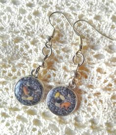 Poppy flower and mix seed earrings handmade with love by artmachi