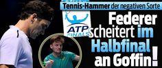1.SEMI: Federer verliert gegen David Goffin 6:2 3:6 4:6 !! 2.SEMI: Dimitrov def Jack Sock 4:6 6:0 6:3 > Final vs Goffin
