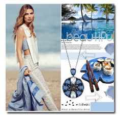 """Totwoo Blue"" by totwoo ❤ liked on Polyvore featuring Bora Bora, Juliska, WearableTech, totwoo and smartjewelry"