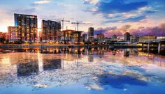 2020 Montreal City at Sunset with Water Reflection Stock Image Royalty Free Pictures, Royalty Free Stock Photos, Stock Imagery, Sunset Images, Pixel Image, Water Reflections, Us Images, Image Photography, New York Skyline