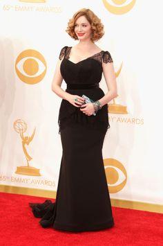 Emmy 2013 Red Carpet: Worship at the bosom of Christina Hendricks! PRAISE!