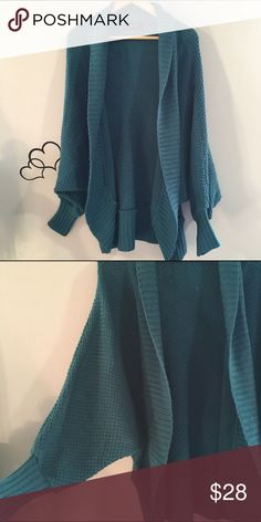 Teal Batwing Knit Cardigan Super cozy!! In excellent condition. Fast shipping. No trades. 20% off 2+ item bundle discount. Sweaters Cardigans