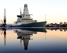 HMS Defender is the fifth of the Royal Navy's six state-of-the-art Type 45 or Daring-class air defense destroyers (commissioned on March 21st, 2013).