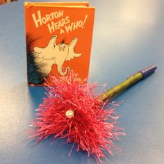 Speck pen for each student to use during writing! Goes perfectly with, Horton Hears A Who, mini copy.