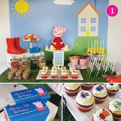 peppa pig party table - Buscar con Google