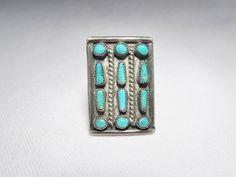 Vintage Sterling Silver ZUNI Snake Eye Petit Point Ring Size 6.25  7503 #UNBRANDED