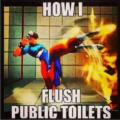 Fo realz. Public toilets are nasty in general!! And according to Oprah's tips, pick the first stall closest to the entrance ladies!! It's statistically the least used stall so usually the cleanest.
